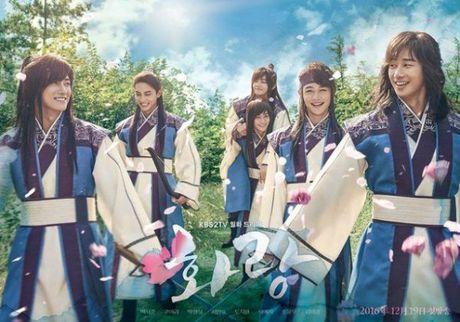 Poster toan trai dep cua 'Hwarang' - drama than tuong co trang - Anh 1