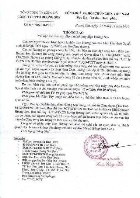 Ha Tinh: Mua bat thuong, hang loat ho dap thong bao xa lu - Anh 1