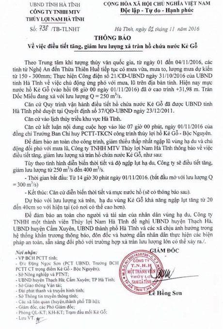 Ha Tinh: Mua bat thuong, hang loat ho dap thong bao xa lu - Anh 2