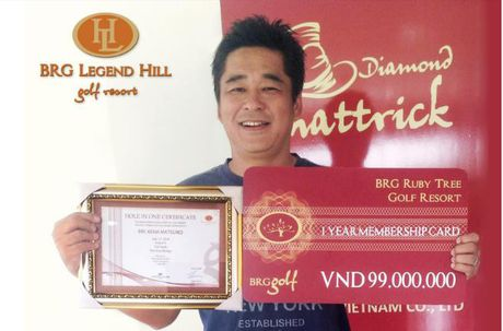 BRG Legend Hill Golf Resort chuc mung golf thu gianh Hole in one - Anh 1