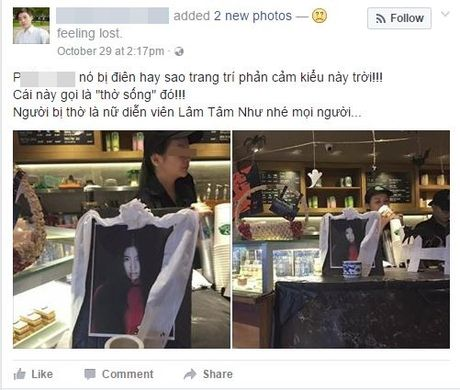 Lam Tam Nhu bi tho song trong quan ca phe o Viet Nam gay buc xuc - Anh 1