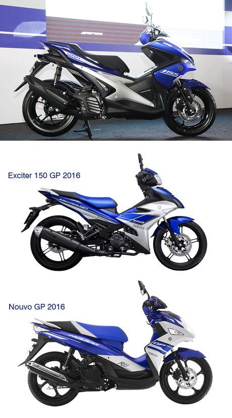 So sanh Yamaha NVX 155cc moi va Yamaha Nouvo 2016 - Anh 1