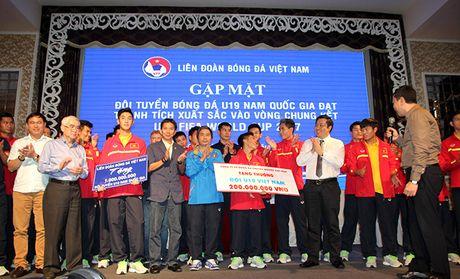 U19 Viet Nam tung bung ngay tro ve - Anh 1