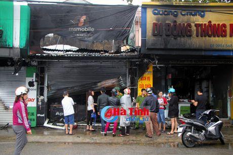 TP Ha Tinh: Chay lon o 5 nha lien ke, thiet hai hang ty dong - Anh 1