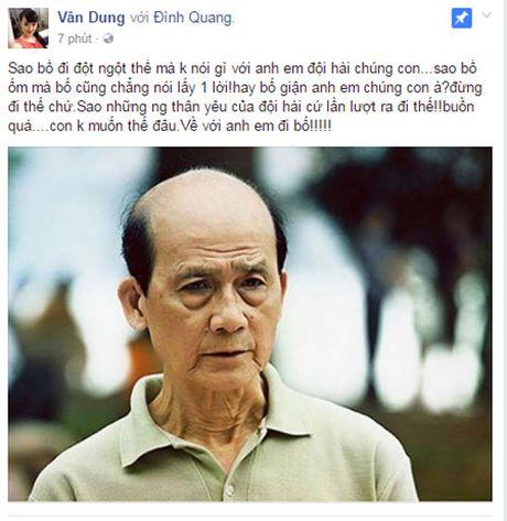 Nghe si Viet khoc thuong truoc su ra di dot ngot cua NSUT Pham Bang - Anh 1
