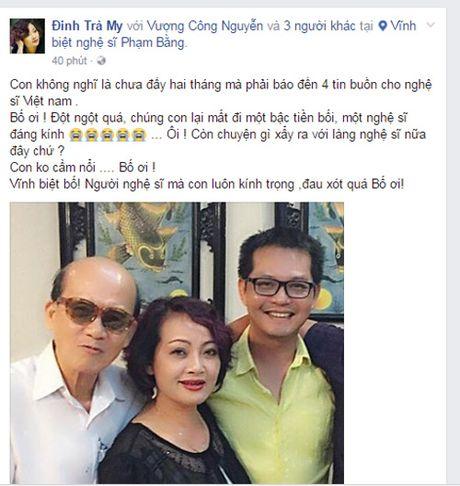 Nghe si Viet khoc thuong truoc su ra di dot ngot cua NSUT Pham Bang - Anh 3