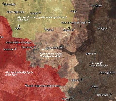Nguoi Kurd phoi hop voi quan doi Syria tien cong phia bac Aleppo - Anh 1
