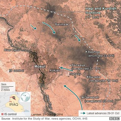 Quan Iraq bat dau danh vao sao huyet Mosul cua IS - Anh 3