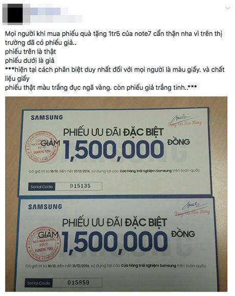 Thu gom voucher 1,5 trieu dong vu Note 7, can than keo bi lua! - Anh 3