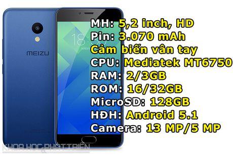 Meizu trinh lang M5: RAM 3 GB, cam bien van tay, gia hon 2 trieu - Anh 1