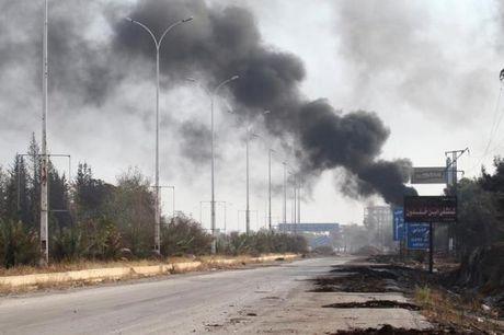 Quan doi Syria to IS su dung vu khi hoa hoc o Aleppo? - Anh 1