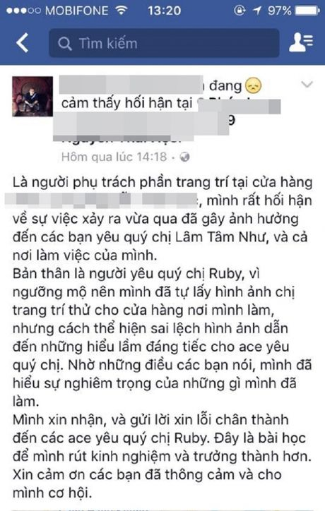 Fan buc xuc vi hinh Lam Tam Nhu bi dung lam anh tho - Anh 3