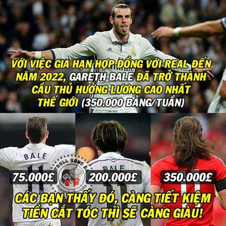Biem hoa 24h: Gareth Bale toc cang dai cang 'phat tai' - Anh 1