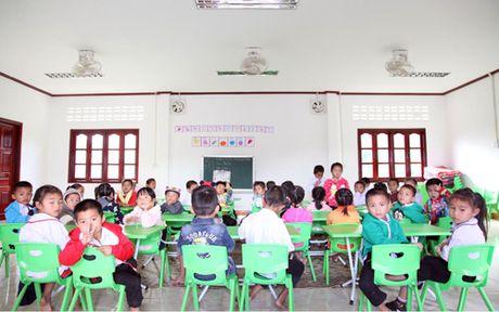 Ban giao truong mam non o Lao do DSQ Viet Nam xay tang - Anh 2