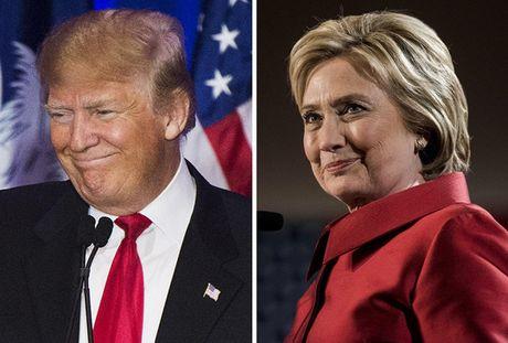 Ong Trump qua mat ba Hillary Clinton - Anh 1
