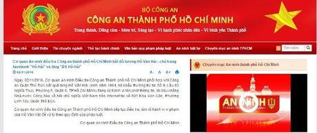 Cong an TP.HCM thong tin bat giu ong Ho Van Hai - Anh 1