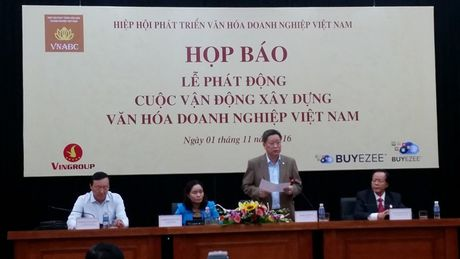 "Phat dong cuoc van dong ""Xay dung van hoa doanh nghiep Viet Nam"" - Anh 1"