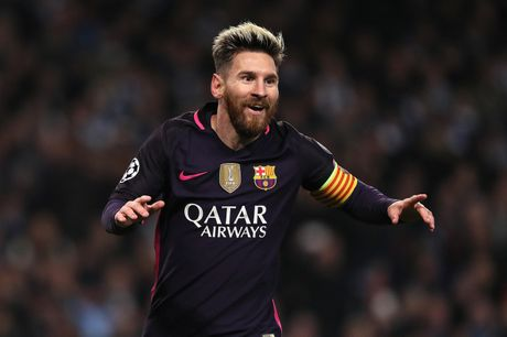 Messi pha ky luc ghi ban cua Raul tai Champions League - Anh 1