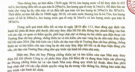 Thuy dien xa lu gay lut: Ha Tinh bao sai, Ho Ho bao dung - Anh 2