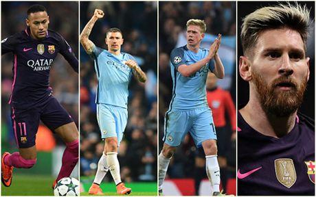 Cham diem Man City 3-1 Barca: Kevin de Bruyne che mo Messi - Anh 1