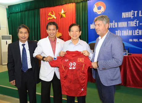Nguyen Chu tich nuoc Nguyen Minh Triet tham va dong vien cac DTQG - Anh 5