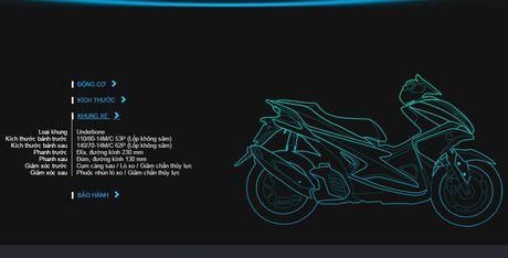 Cong bo chi tiet tay ga Yamaha NVX 155cc tai Viet Nam - Anh 10