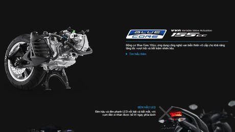 Cong bo chi tiet tay ga Yamaha NVX 155cc tai Viet Nam - Anh 4