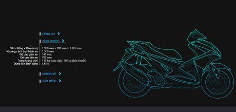 Cong bo chi tiet tay ga Yamaha NVX 155cc tai Viet Nam - Anh 9