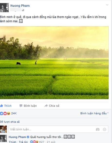 HH Pham Huong bi fan ruot 'boc' vi...lo may song ao - Anh 1