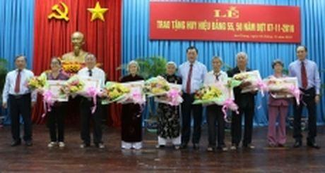 Trao Huy hieu Dang tang 111 dang vien cao nien tuoi Dang o An Giang - Anh 1
