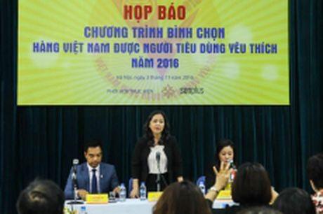 Phat dong chuong trinh binh chon 'Hang Viet Nam duoc nguoi tieu dung yeu thich' - Anh 1