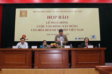 Phat dong cuoc van dong 'Xay dung van hoa Doanh nghiep Viet Nam' - Anh 1