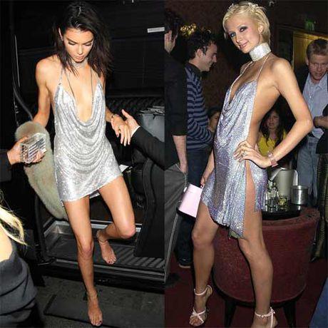 Kendall Jenner khoe nguc mini van sexy voi vay tre nai - Anh 1