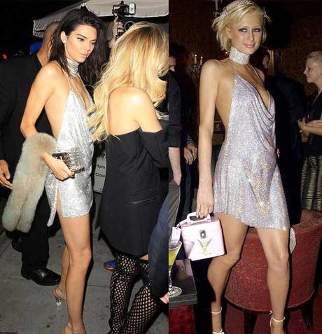 Kendall Jenner khoe nguc mini van sexy voi vay tre nai - Anh 4