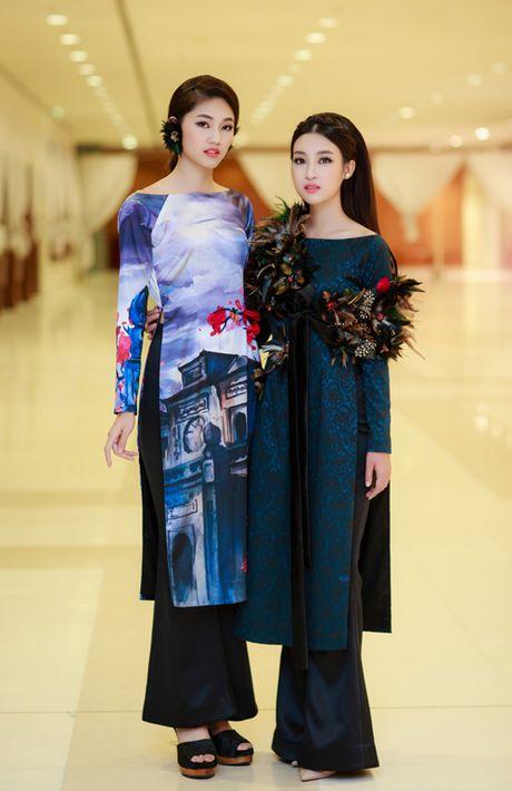 My Linh, Thanh Tu dien ao dai 'doc' di xem thoi trang - Anh 5