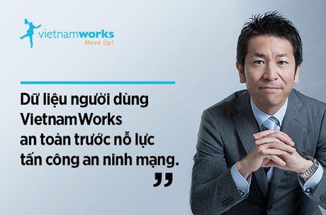 Hang trieu du lieu nguoi dung VietnamWorks van an toan - Anh 1