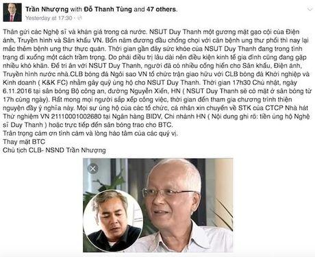 NSUT Duy Thanh chong choi cung luc 2 benh ung thu - Anh 2