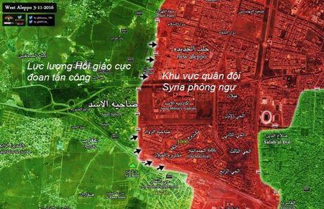 Chien su Syria: Phien quan tan cong du doi tay Aleppo (video) - Anh 1