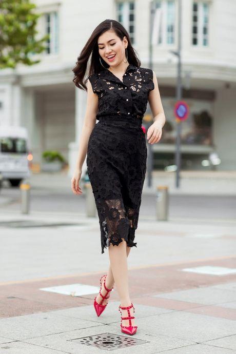 Hoa hau Viet Nam The gioi Diem Tran ve nuoc, lan san showbiz Viet - Anh 3