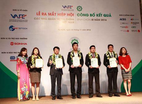 Cong bo TOP 5 doanh nghiep niem yet co hoat dong IR tot nhat nam 2016 - Anh 1