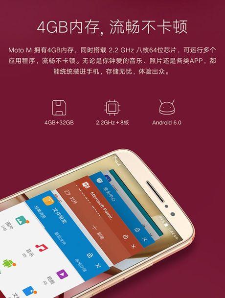 Smartphone Moto M lo anh chinh thuc, 'phoi bay' cau hinh, thiet ke - Anh 3