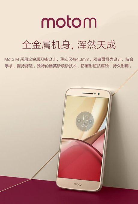 Smartphone Moto M lo anh chinh thuc, 'phoi bay' cau hinh, thiet ke - Anh 7
