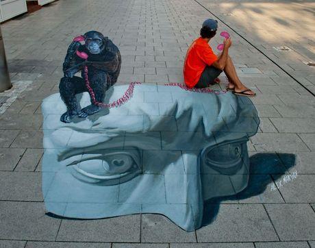 Chang hoa si noi tieng voi loat tranh 3D danh lua thi giac - Anh 8
