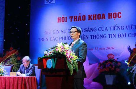 Pho Thu tuong Vu Duc Dam: 'Muon tieng nuoc ngoai can co chon loc' - Anh 1