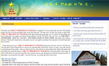 Chu tich UBND TP HCM phe binh nghiem khac Cong ty 27-7 - Anh 1