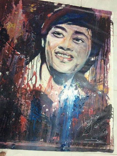 Hoai Linh ban tranh ung ho mien Trung - Anh 1