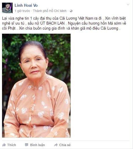 Nghe si Ut Bach Lan qua doi: Sao Viet khoc thuong cay dai thu lang Cai Luong - Anh 3