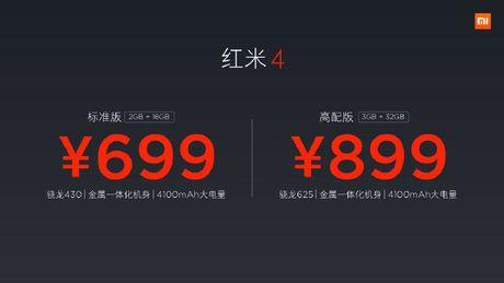 Xiaomi Redmi 4/4A moi: van tay, pin 4.100mAh, gia re - Anh 4