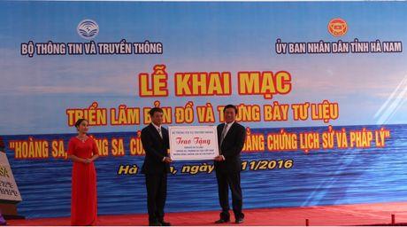 Ha Nam: Trien lam 'Hoang Sa, Truong Sa cua Viet Nam' bang cong nghe 3D - Anh 1