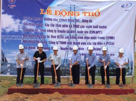Xay dung cac duong day 220 kV mach 2 Dong Hoi - Dong Ha va Dong Ha – Hue - Anh 1